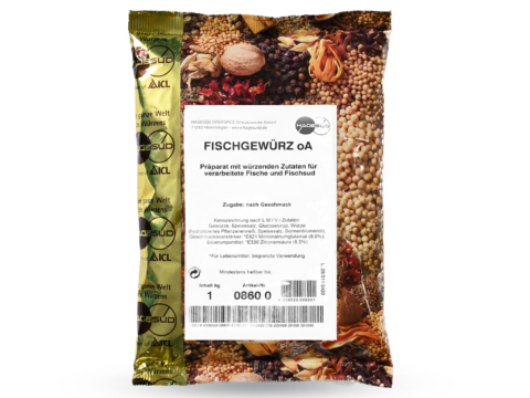 Fischgewürz Gewürzmischung von Hagesüd, 1kg Packung