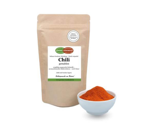 Chili gemahlen, 100g