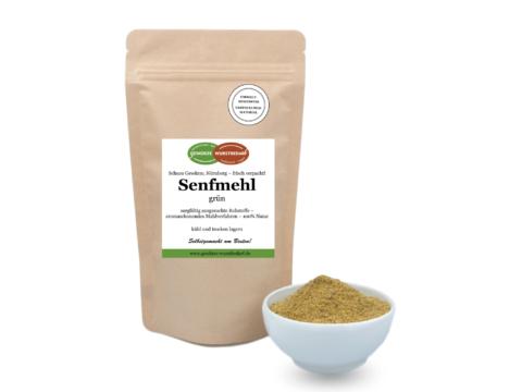 Senfmehl grün